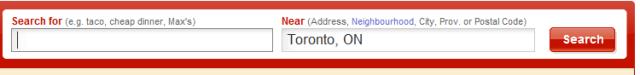Yelp Canada search box