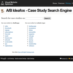 A/B ideafox case study search engine