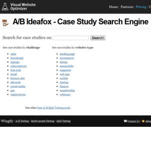 A/B ideafox case study search engine