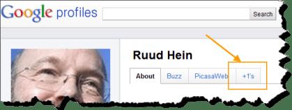 Google +1 Tab on Google Profiles