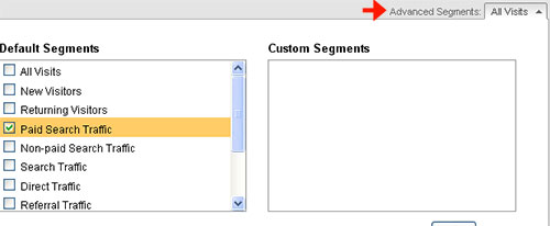 Advanced Segments in Google Analytics Reports