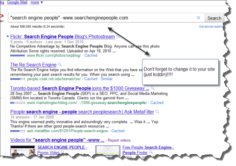 Example of link building tips