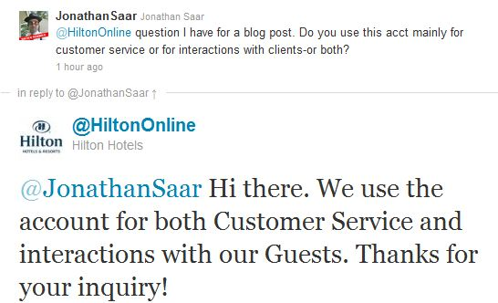 Hilton response customer service