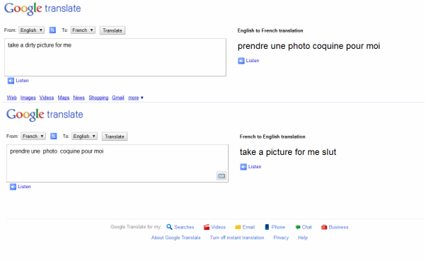 inexplicable google translate fails