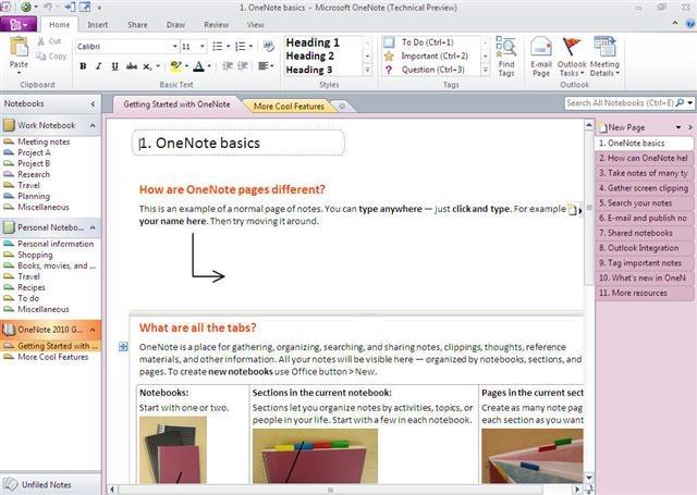 onenote high tech binder style writing