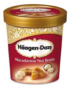 Haagen Dazs Macadamia Nut Brittle - NOM.