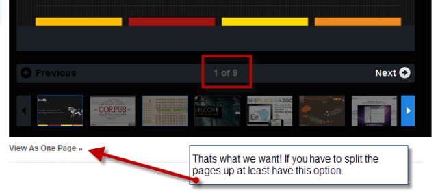 Several pages do not help you to share your content