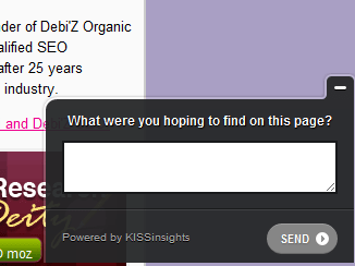 survey asking what were you hoping to find on this page