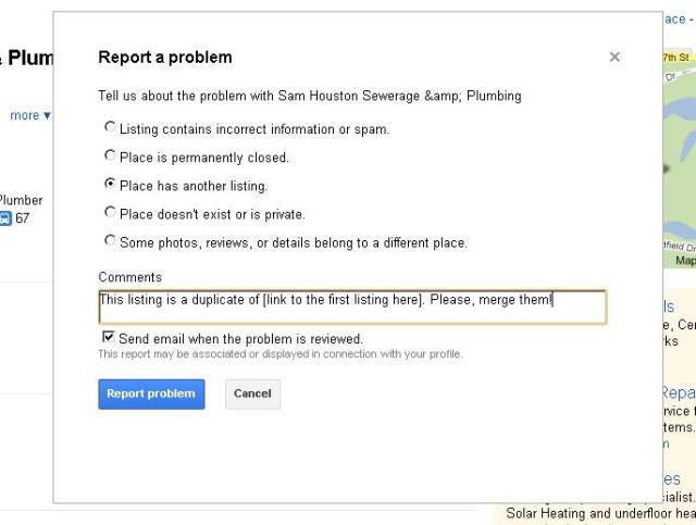 Report a problem Duplicate Listing