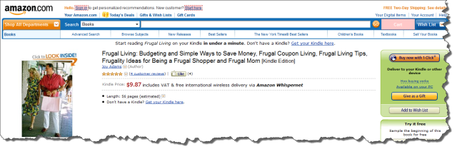 Building links for a frugal page