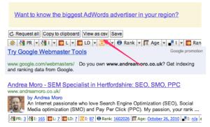 Retrieve results from Google