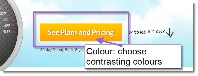 CTA - use colour wisely