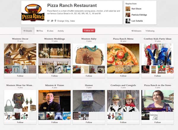 Pizza Ranch Restaurant on Pinterest