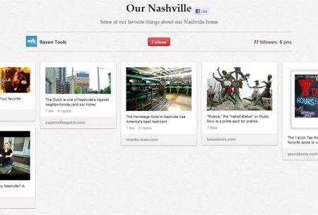 Raven Tools Nashville Pinterest Board
