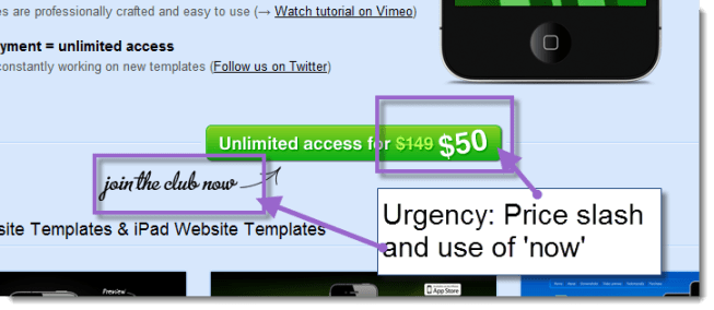 Create urgency via pricing