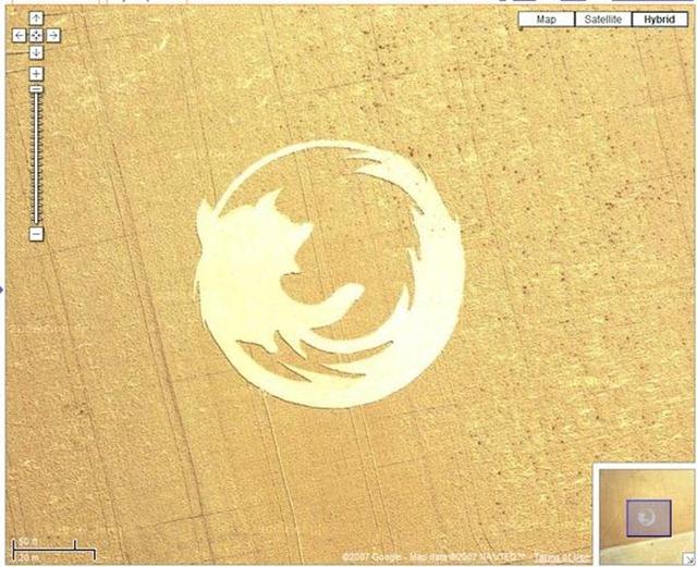 2. Firefox Crop Circle on Google Maps