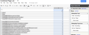 Building the List in Google Docs