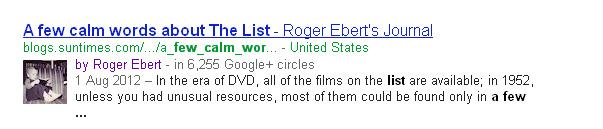 Robert Ebert Google+