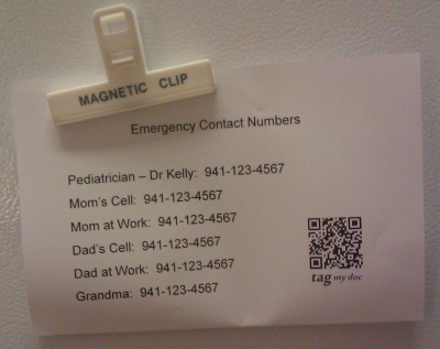 5 Great Practicl Uses for QR Codes | Emergency Contact Information