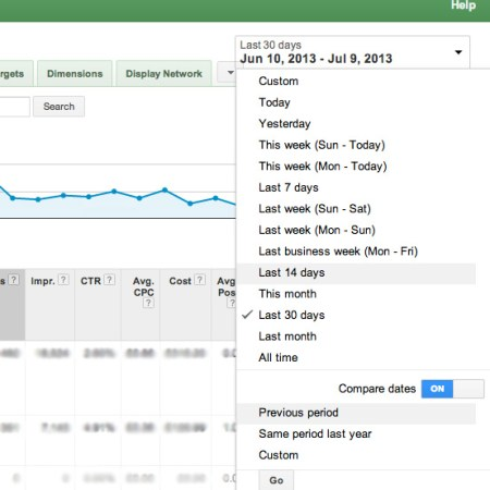 Comparing Dates in Google Adwords