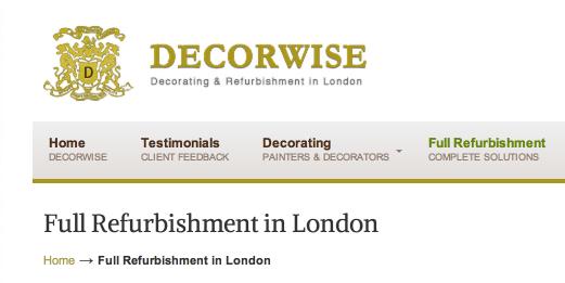 Full Refurbishment in London   Decorwise London