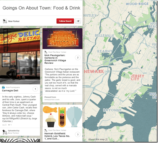 Pinterest Place Pins: Restaurant Example