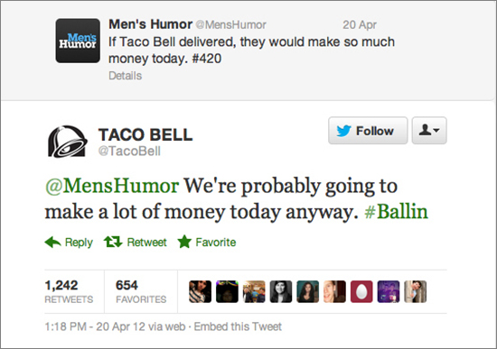 Taco Bell Social Networking