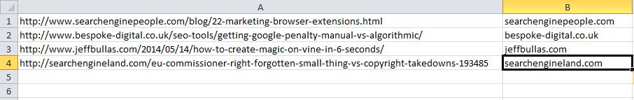 Example of subdomain formula in URL Tools