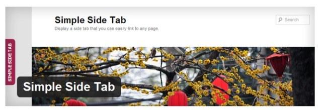 Simple Side Tab | WordPress Plugin | Rumspeed