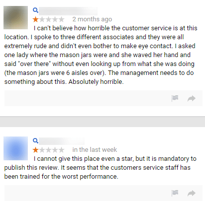Retailer Reviews