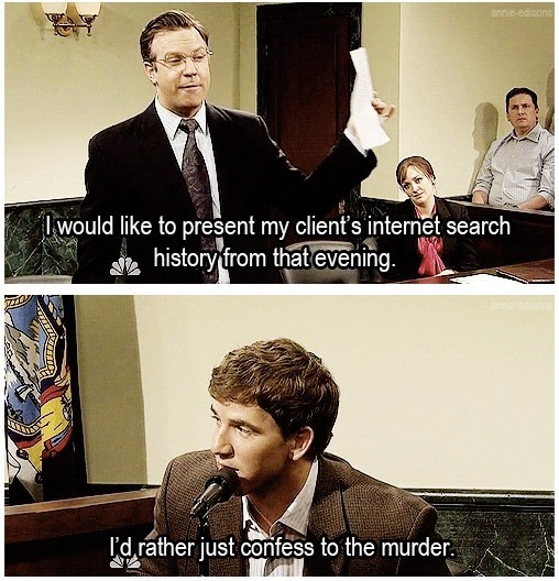 Saturday Night Live Search History Confess Murder
