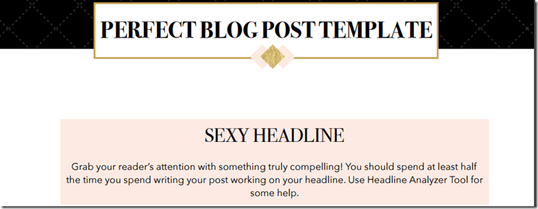 25 blog post templates to make blogging faster how to write the perfect blog post free blog post template malvernweather Images