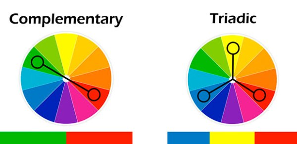 complimentary or triadic color