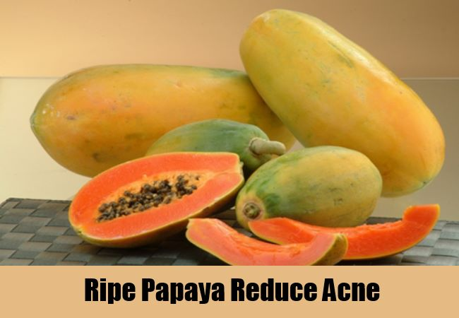 Ripe Papaya Reduce Acne