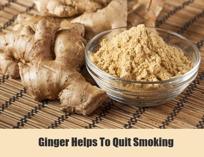 Ginger Helps To Quit Smoking