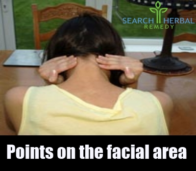 points on the facial area
