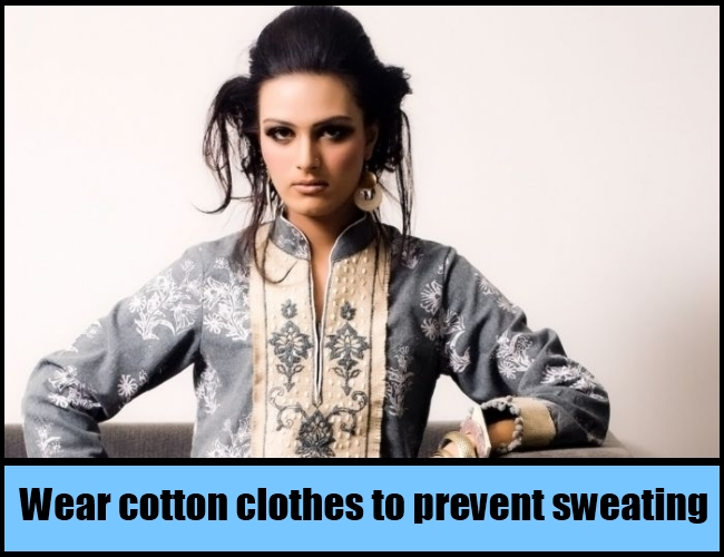 wear cotton clothes