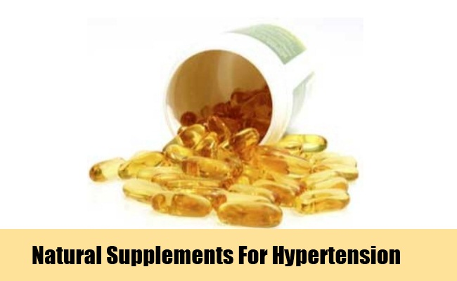 Natural Supplements To Reduce High Blood Pressure