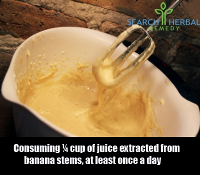 juice extracted from banana stems
