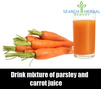 parsley and carrot juice