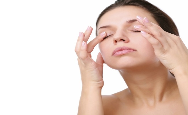 Facial Exercise Or Eye Massage