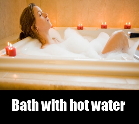 bath with hot water