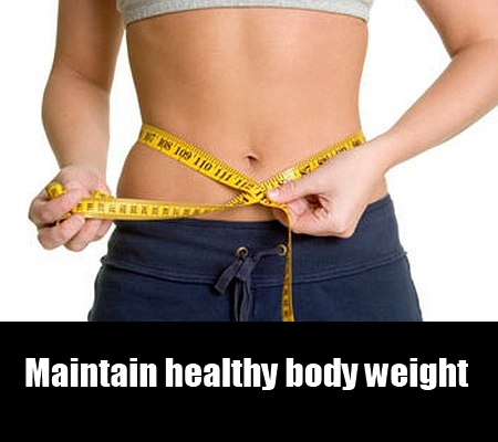 maintain healthy body weight