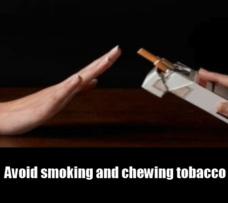 avoid alcohol and smoking