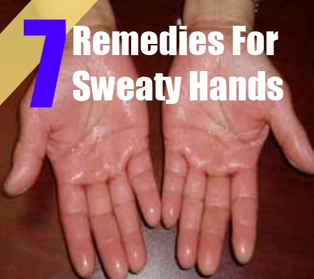 how to stop sweaty hands home remedies