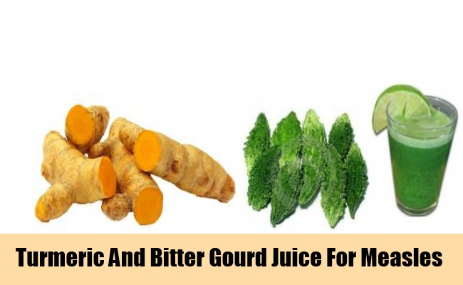 Turmeric And Bitter Gourd Juice