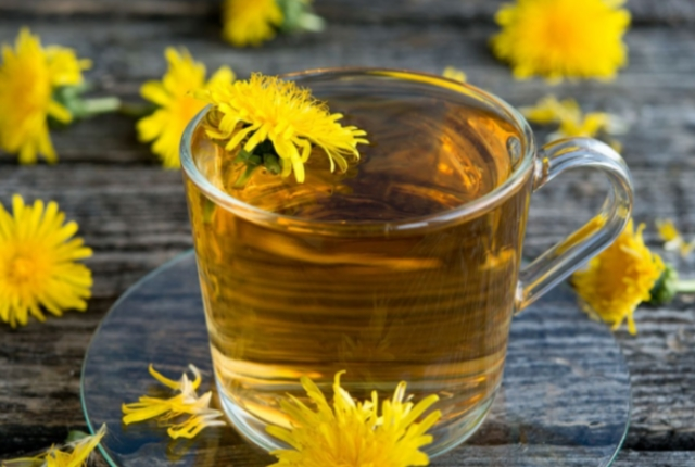 Herbal Tea With Dandelion And Goldenrod