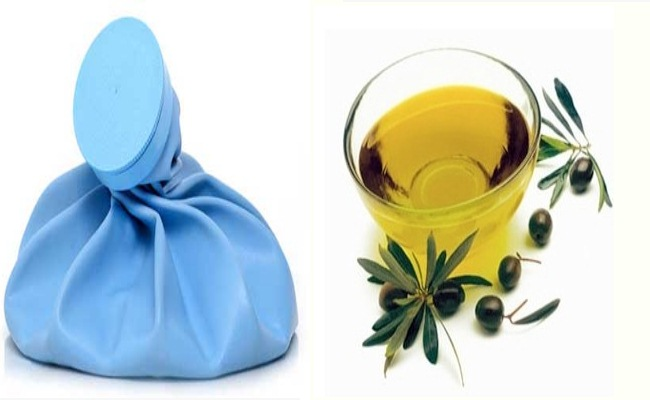 Ice Pack And Tea Tree Oil