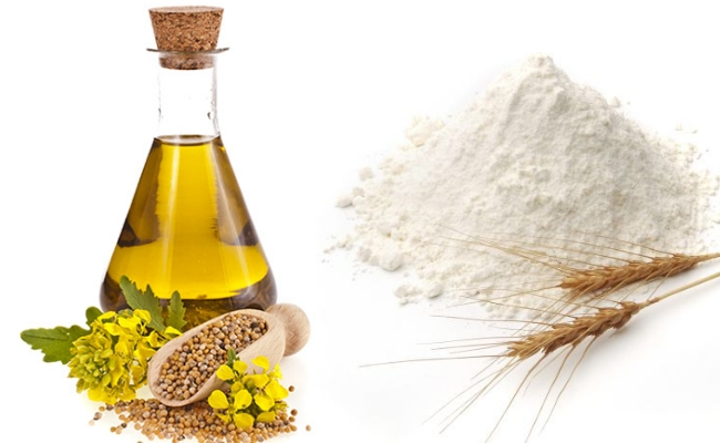 Mustard Oil And Wheat Flour