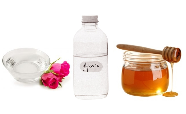Rose Water, Glycerin, And Honey